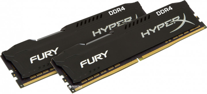 Оперативная память HyperX DDR4-3200 32764MB PC4-25600 (Kit of 2x16384) Fury Black (HX432C18FBK2/32)