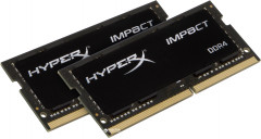 Оперативная память HyperX SODIMM DDR4-3200 16384MB PC4-25600 (Kit of 2x8192) Impact (HX432S20IB2K2/16)