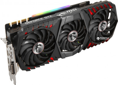 MSI PCI-Ex GeForce GTX 1080 Ti Gaming Trio 11GB GDDR5X (352bit) (1493/11016) (DVI, 2 x HDMI, 2 x DisplayPort) (GTX 1080 Ti GAMING X TRIO)