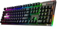 Клавиатура проводная MSI Vigor GK80 RGB Cherry MX Red USB Black