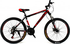 "Велосипед CrossBike Hunter 17 19"" 26"" 2018 Black/Red/White (26CJA17-8-4)"