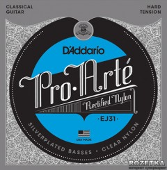 D'Addario EJ31 Nylon Pro-Arte Rectified Classiсs (Hard Tension)