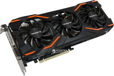 Gigabyte PCI-Ex GeForce GTX 1080 Windforce OC 8GB GDDR5X (256bit) (1632/10010) (DVI, HDMI, 3 x DisplayPort) (GV-N1080WF3OC-8GD)