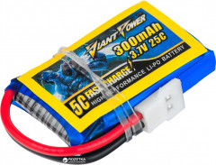 Аккумулятор Giant Power Li-Pol 300 mAh 3.7V 1S 25C 8x20x32мм для Walkera/Hubsan (2711512239588)