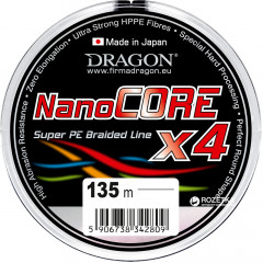 Шнур Dragon NanoCORE X4 135 м 0.12 мм 10.5 кг Серый (PDF-41-06-012)