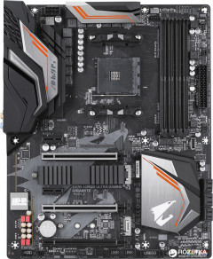 Материнская плата Gigabyte X470 Aorus Ultra Gaming (sAM4, AMD X470, PCI-Ex16)