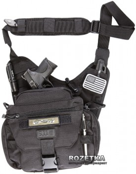 Сумка-кобура тактична оперативна плечова 5.11 Tactical PUSH Pack 56037 Чорний (2000000149745)