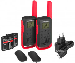 Рация Motorola Talkabout T62 Twin Pack&ChgrWE Red (B6P00811RDRMAW)