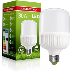 Светодиодная лампа Euroelectric LED Plastic 30W E27 6500K (LED-HP-30276(P))
