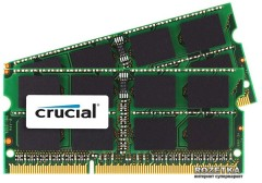 Оперативная память Crucial SODIMM DDR3-1600 16384MB C3-12800 (Kit of 2x8192MB) (CT2K8G3S160BM)