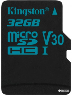 Kingston microSDHC 32GB Canvas Go! Class 10 UHS-I U3 (SDCG2/32GBSP)