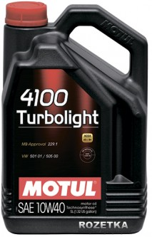 Моторное масло Motul 4100 Turbolight 10W-40 4 л (100355)