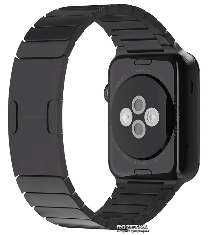 space black stainless steel watch - 730×803