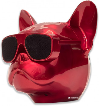 Акустична система Qitech Aerobull XL Red Chrome (QT-dog-XLRdCh)
