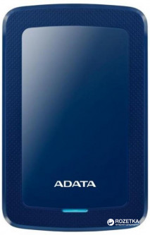 Жесткий диск ADATA DashDrive HV300 1TB AHV300-1TU31-CBL 2.5 USB 3.1 External Slim Blue