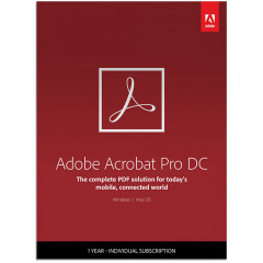 Adobe Acrobat Pro DC Multiple Platforms Multi European Languages License Renewal 1 лицензия 1 ПК на 1 год (65234075BA01A12)