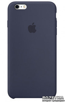 Панель Apple Silicone Case для iPhone 6s Plus Midnight Blue (MKXL2ZM/A) (BF093069) - Уценка