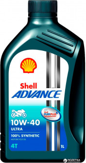 Моторное масло Shell Advance 4T Ultra 10W-40 1 л