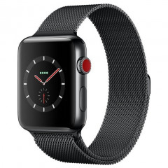 Apple Watch Series 3 GPS + Cellular 38mm Space Black Stainless Steel Case with Space Black Milanese Loop (MR1H2)