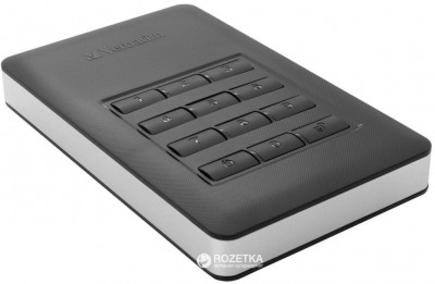 Жорсткий диск Verbatim Store n Go 1TB 5400rpm 8MB 53401 2.5 USB 3.1 Secure Portable AES 256 Keypad Access Black