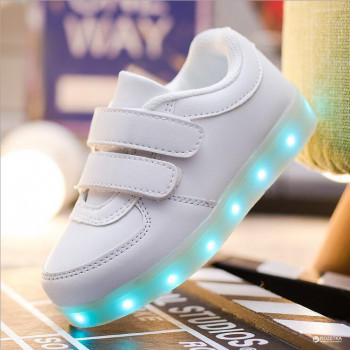 Кросівки StreetGo LED Kid Strap 25 White