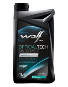 Моторное масло Wolf OFFICIALTECH MS-F 5W-30 1л 83086111