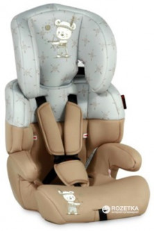 Автокресло Bertoni Junior 9-36 кг Beige&grey Indian Bear (JUNIOR beige&grey indian)