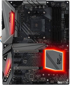 Материнская плата ASRock X470 Gaming K4 (sAM4, AMD X470, PCI-Ex16)