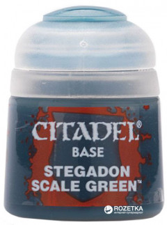 Краска акриловая Games Workshop Citadel Base Stegadon Scale Green 12 мл (5011921026371)