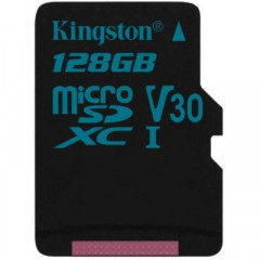 Карта памяти Kingston 128GB microSD class 10 UHS-I U3 Canvas Go (SDCG2/128GB)
