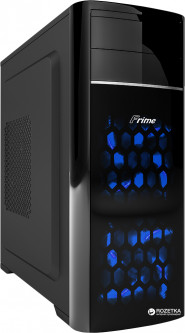 Корпус Frime FC-702B/Blue LED Black