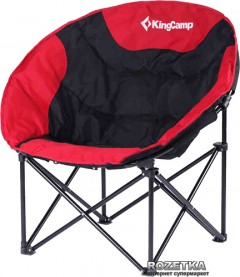 Раскладное кресло KingCamp Moon Leisure Chair Black/Red (KC3816 Black/Red)