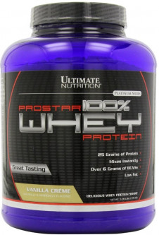 Ultimate Nutrition Prostar 100% Whey Protein (2270 грамм) - Клубника