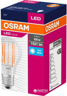 Светодиодная лампа Osram LED Value Filament A100 11W (1521Lm) 4000K E27 (4058075153622)