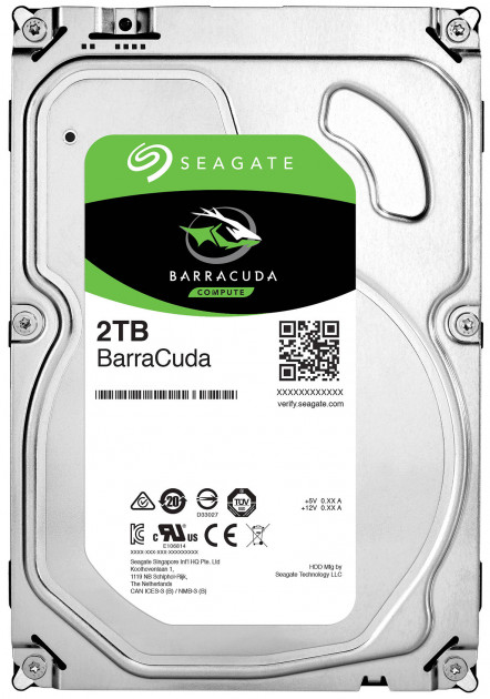 Жорсткий диск Seagate BarraCuda HDD 2TB 7200rpm 256MB ST2000DM008 3.5 SATA III - зображення 1