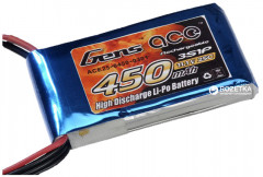 Аккумулятор Gens Ace 450 mAh 11.1V 25C 3S1P Lipo Battery Pack (B-25C-450-3S1P)