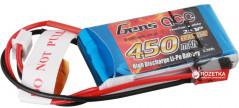 Аккумулятор Gens Ace 450 mAh 7.4V 25C 2S1P Lipo Battery Pack (B-25C-450-2S1P)
