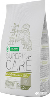 Сухой корм для молодых собак малых пород с белой шерстью Nature's Protection Superior care Junior Small 10 кг (4771317450760)