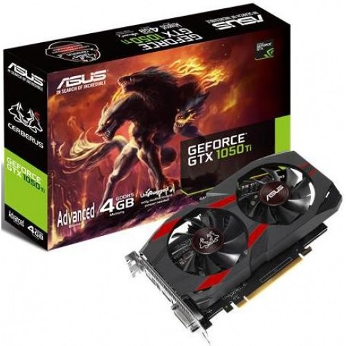 GeForce GTX1050 Ti 4096Mb Asus Cerberus Advanced Edition (CERBERUS-GTX1050TI-A4G)