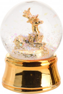 Стеклянный шар Christmas Decoration С глиттером 6.2 см (AWA101230_gold_deer)