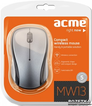 Миша Acme MW13 Wireless Black/Grey (4770070874592)