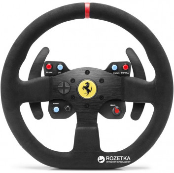 Дротове кермо Thrustmaster T300 Ferrari Integral RW Alcantara edition PC/PS4/PS3 Black (4160652)