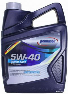 Моторное масло Pennasol Super Pace SAE 5W-40 5 л