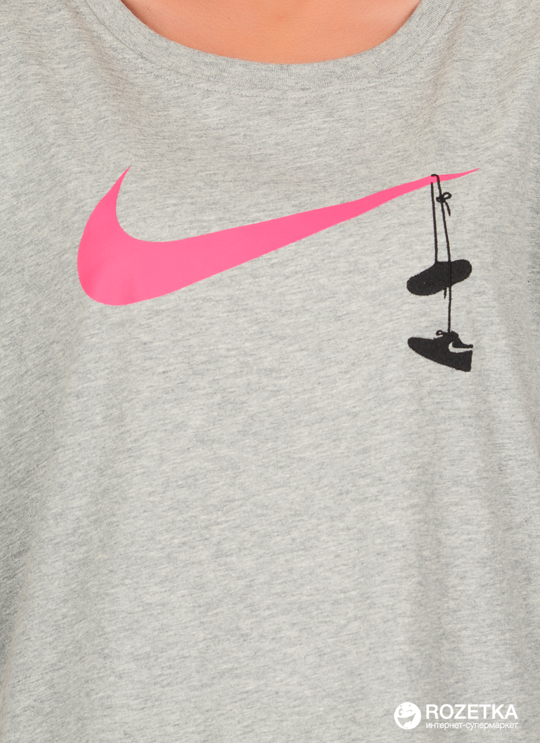 19915acf Футболка Nike W Nsw Tee Swsh Shoes Embrd 923334-063 S (823229594743)