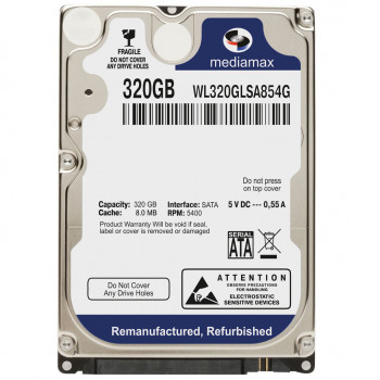 Жесткий диск MediaMax 320GB 5400rpm 8MB WL320GLSA854G 2.5 SATA Refurbished