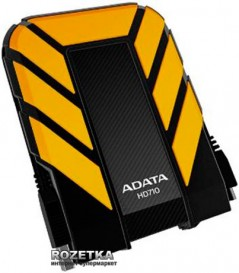 "Жесткий диск ADATA DashDrive Durable HD710 1TB AHD710-1TU3-CYL 2.5"" USB 3.0 External Yellow"