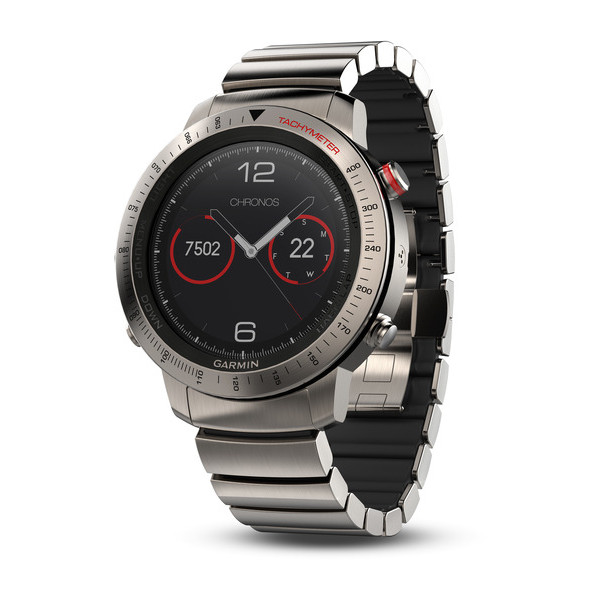 Смарт-часы Garmin Fenix Chronos Titanium with Brushed Titanium Hybrid Watch  Band (010- aa09d3160c7a4