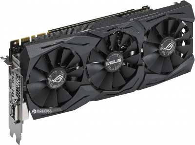 Asus PCI-Ex GeForce GTX 1070 ROG Strix 8GB GDDR5 (256bit) (1506/8000) (DVI, 2 x HDMI, 2 x DisplayPort) (ROG STRIX-GTX1070-8G)