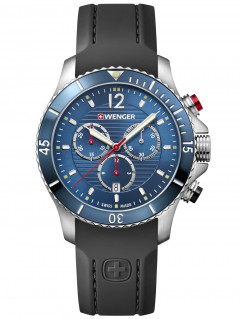 Часы Wenger 01.0643.110 Seaforce Chronograph 43mm 20ATM