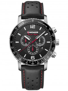 Часы Wenger 01.1843.101 Roadster Black Night Chronograph 44mm 10ATM